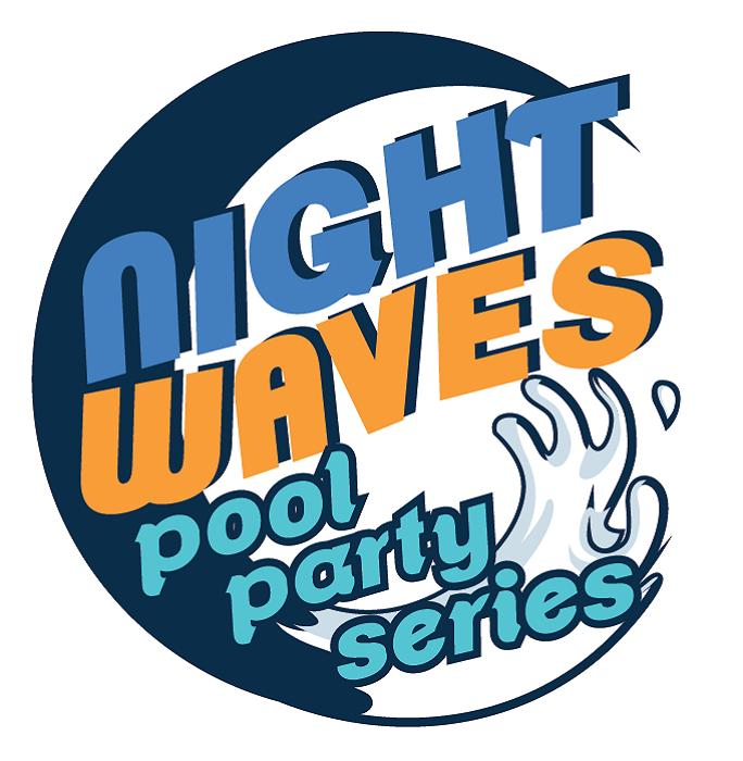 Night Waves Pool Party Series Logo