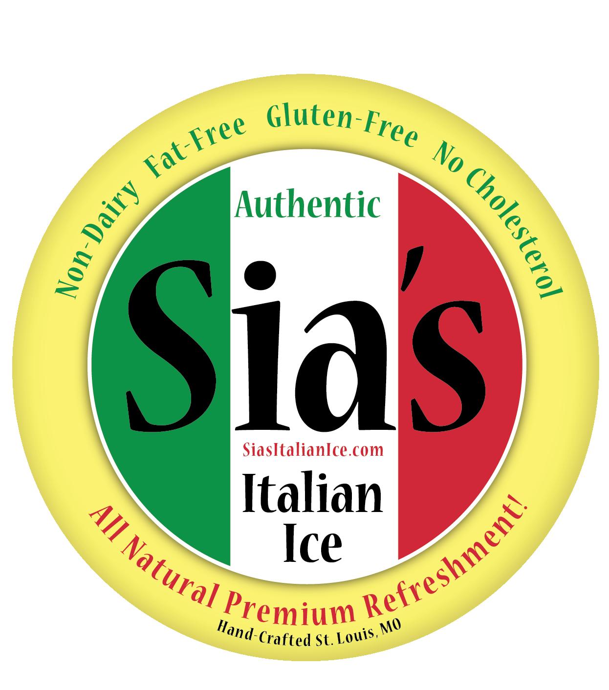 Sia's Italian Ice Logo